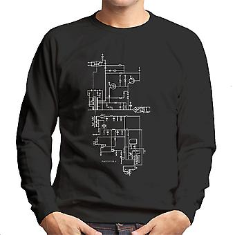 PlayStation 1 Computer Schematic Men's Sweatshirt