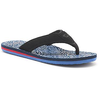 Animal Mens Jekyl Swim PU Nubuck Spandex Lined EVA Flip Flop Sandals