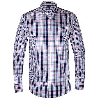 GANT GANT Pink Broadcloth Plaid Long-Sleeve Shirt
