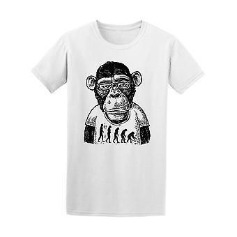 Affen In menschlichen T Shirt T-Shirt Männer gekleidet-Bild von Shutterstock