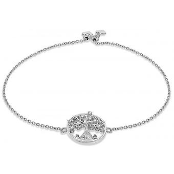 IBB London Tree of Life Adjustable Bracelet - Silver