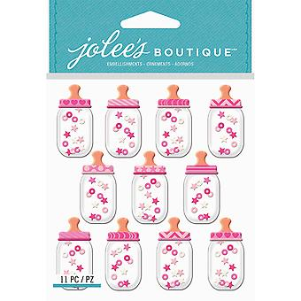 Jolee's Boutique Dimensional Stickers-Baby Girl Bottle Dome