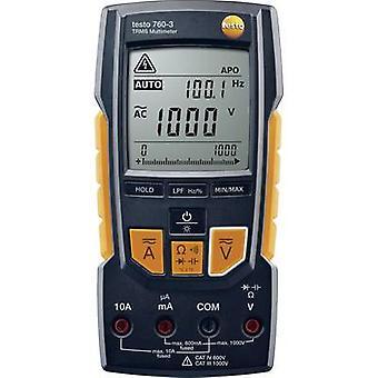 testo 760-3 Handheld multimeter Digital Calibrated to: Manufacturer's standards (no certificate) CAT III 1000 V, CAT IV