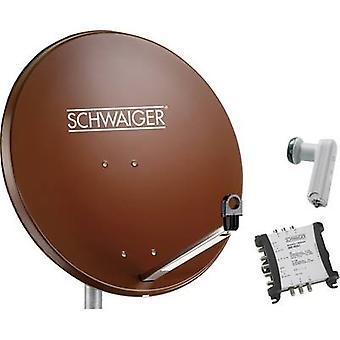 Schwaiger SPI9962SET5 SAT system w/o receiver Number of participants 6 80 cm