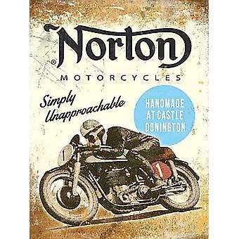 Norton métal simplement inabordable signer 200 X 150 Mm