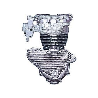 Triumph Pre-Unit Engine Iron-On/Sew-On Cloth Patch