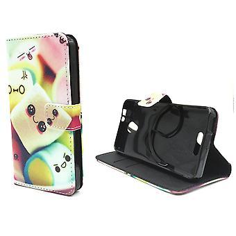 Mobiele telefoon geval zakje voor mobiele Alcatel pop 4 belettering marshmallows