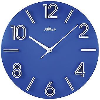 Atlanta 4397/5 wall clock quartz analog blue round