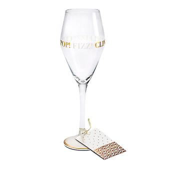 Here's To You Megan Claire Pop Fizz Clink Wine Glass