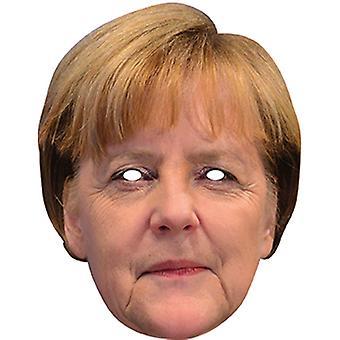 Masque visage carte de Angela Merkel célébrité