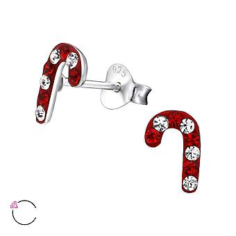 Candy Cane crystal from Swarovski® - 925 Sterling Silver Children's Ear Studs - W24712X