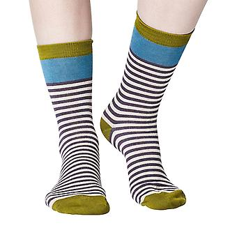 Walla women's super-soft bamboo crew socks in slate | By Thought