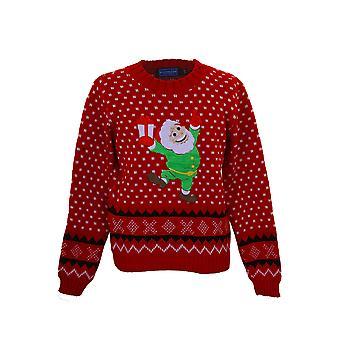 Kinder gebreide XMAS Christmas feestelijke Santa sneeuw meisjes Azteekse trui Jumper
