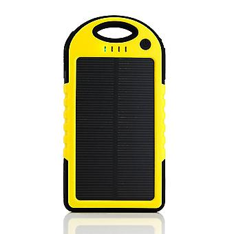 Stuff Certified ® External 5000mAh Solar Charger Power Bank Emergency Solar Battery Charger Yellow