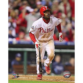Jimmy Rollins omgång 4 2008 World Series Photo Print