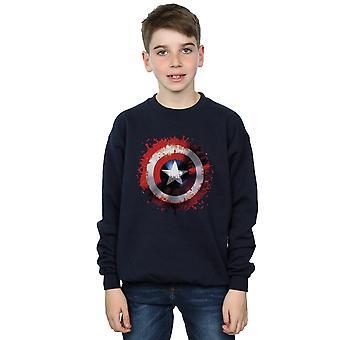 Marvel Boys Avengers Captain America Art Shield Sweatshirt