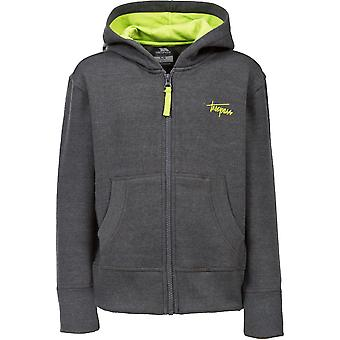 Trespass Boys Roddy Knitted Polycotton Full Zip Contrast Hoodie