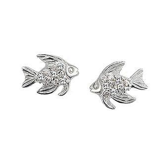 Scout Kinder Ohrringe Ohrstecker Silber Fisch Glitzer Mädchen 262140100
