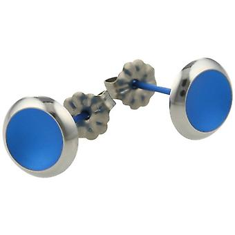 Ti2 Titanium Stud Earrings - Navy