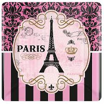 Paris plate square Eiffel Tower of Paryteller 8 PCs.