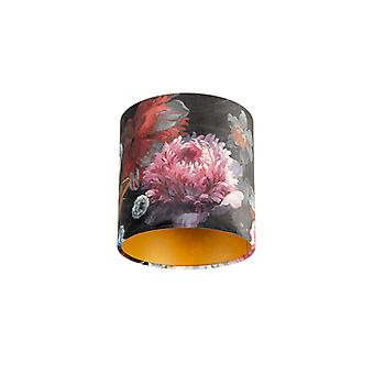QAZQA Shade 20/20/20 Velvet Floral with Gold