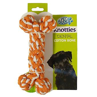 PetBrands Knotty Bone Shaped Dog Rope Toy