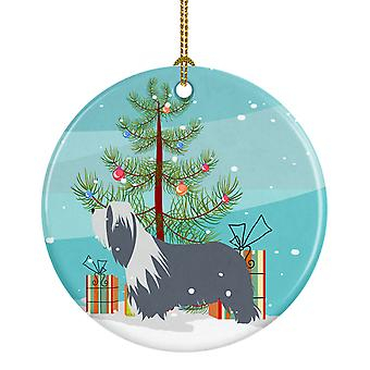Bearded Collie hund Merry Christmas Tree keramiske Ornament