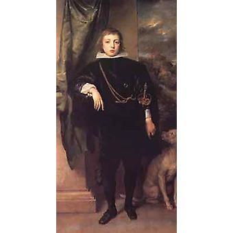 Portrait of prince rupert standing,Anthony Van Dyck,80x40cm