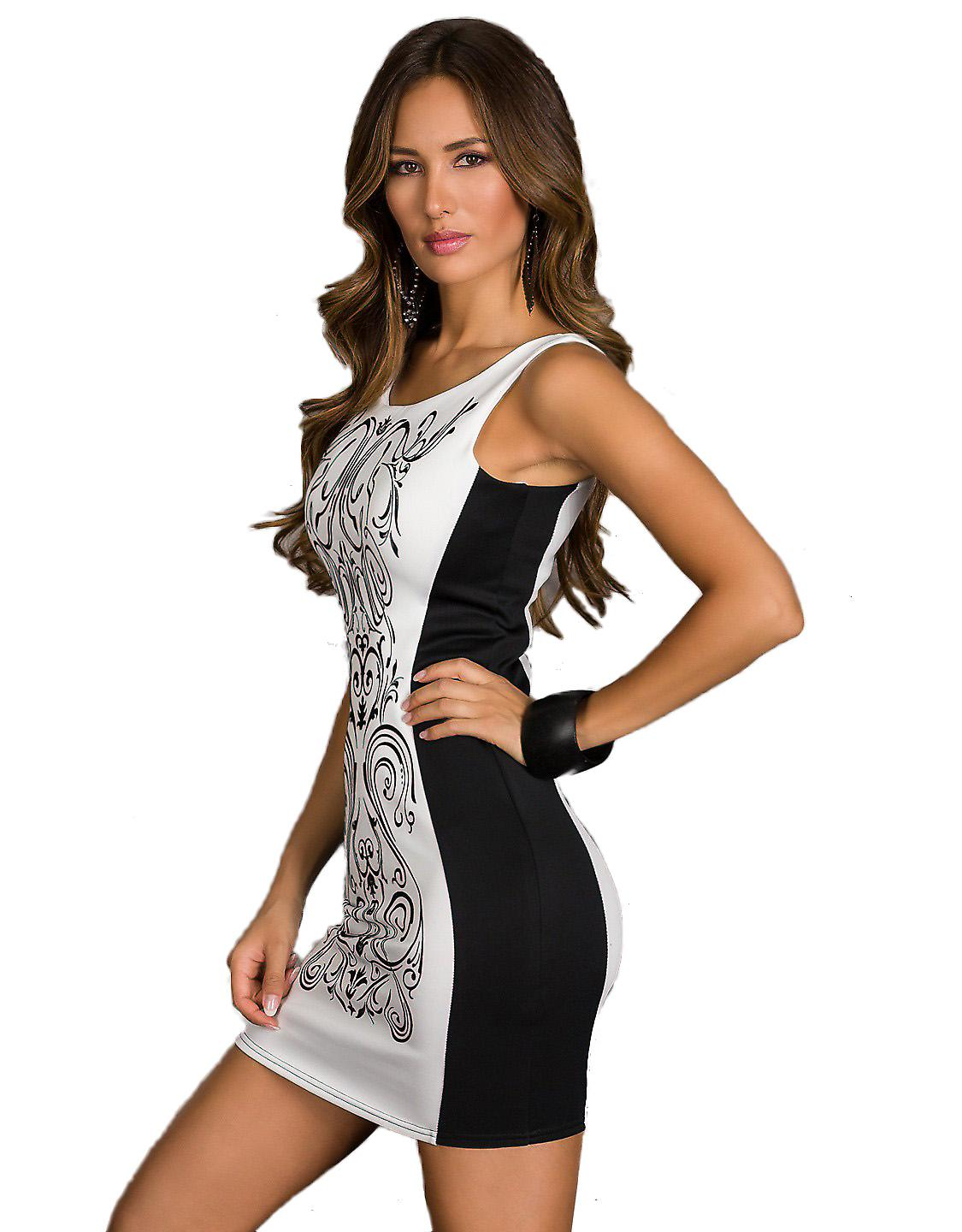 Waooh - Fashion - short two-tone dress with lace