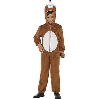 Fox Costume, Brown, with Hooded Jumpsuit
