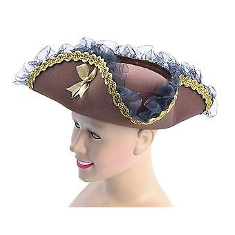 Tricorn Hat, Brown (Pirate Lady)