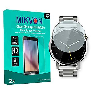 Motorola Moto 360 2nd Gen. 48mm Screen Protector - Mikvon Clear (Retail Package with accessories)