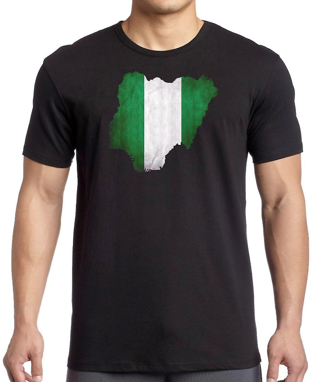 Nigeria Flag Map T Shirt