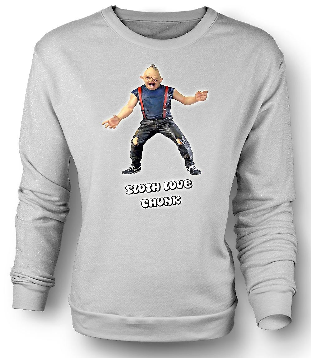 Mens Sweatshirt Sloth - Goonies - Love Chunk