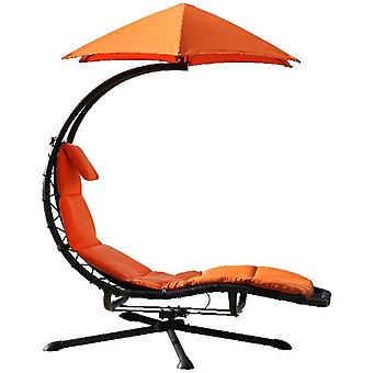 Zweefbed - 360 - Swivel _Lounger - Orange Zest