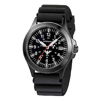 KHS watches mens watch black platoon titanium automatic KHS. BPTA. DB