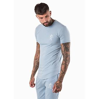 Gym King Longline Fitted T-shirts In Fog