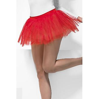 Womens Red Tutu Underskirt  Fancy Dress Accessory