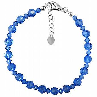 Sapphire Swarovski Crystals Wedding Blue Dress Prom Jewelry Bracelet