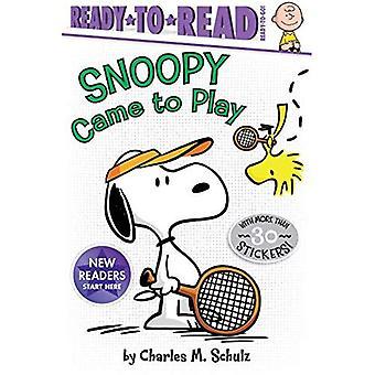 Snoopy kam zu spielen (Erdnüsse)