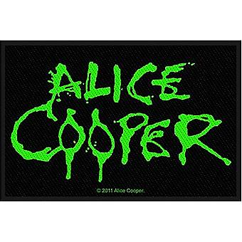 Alice Cooper Green Drip Writing sew-on cloth patch   (ro)