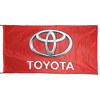 Large Toyota flag (red) 1500mm x 900mm   (of)