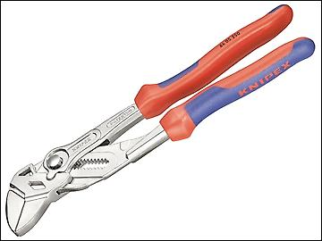 Knipex Pliers Wrench Multi Component Grip  35mm Capacity 180mm