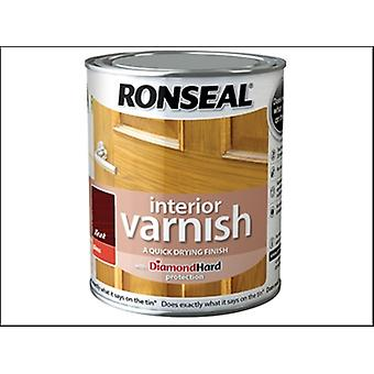 Ronseal Interieur Lack Quick Dry Gloss Teak 750ml