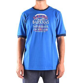 Paul & Shark Blue Cotton T-shirt