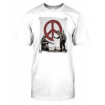 Banksy - Soldiers Painting Peace - Urban Artist Kids T Shirt