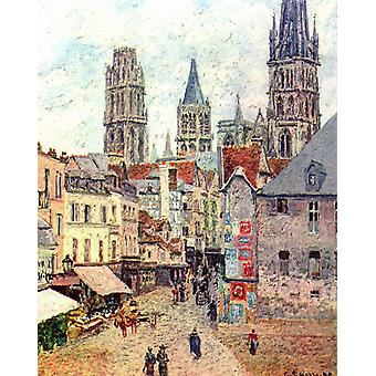 Rue de L-Epicerie,Rouen,Camille Pissarro,50x40cm