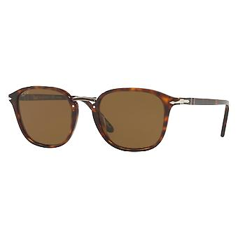 Persol 3186S wide polarized Brown tortoise