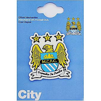 Manchester City FC Crest PVC fridge magnet 65mm x 50mm  (spg)