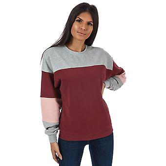 Womens Only Gigi Colourblock Crew Neck Sweatshirt In Chocolate Truffle